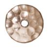 Bead Cap 8mm Hammered Rhodium